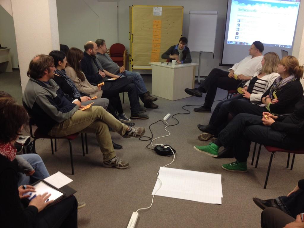 Pro-Kontra-Debatte beim #bcpb zum Thema Urheberrecht.